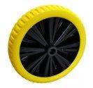 Carrello2-C2-10-1-25-Ruota Flex 39 gialla peso 1750g mozzo lungh. 75mm Ø foro 25mm-20