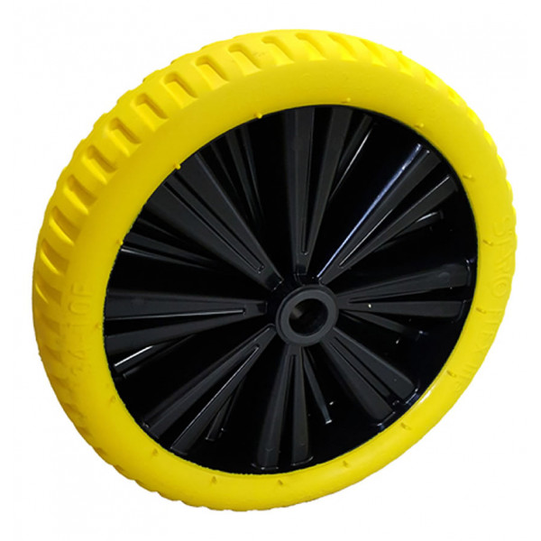 Carrello2-C2-10-1-20-Ruota Flex 39 gialla peso 1750g mozzo lungh. 75mm Ø foro 20mm-31