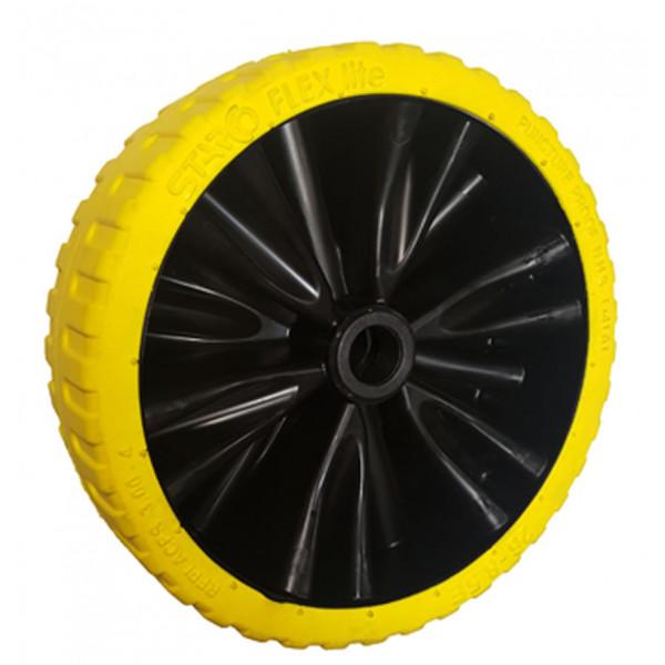 Carrello2-ST-372143-25-Ruota Flex Lite gialla peso 600g mozzo lungh. 50mm Ø foro 25mm-31